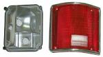 1973-87 Fullsize Chevy & GMC Fleetside Truck Tail Light Assembly, with Trim, Left