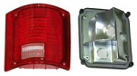 1973-87 Fullsize Chevy & GMC Fleetside Truck Tail Light Assembly, w/o Trim, Right