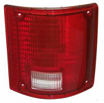 1973-87 Fullsize Chevy & GMC Fleetside Truck Tail Light Lens, w/o Trim, Right