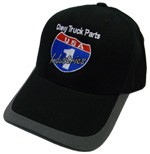 USA1 Industries Black Hat with Grey Brim with USA1 Color Log