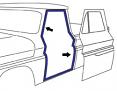 1960-66 Chevy & GMC Truck Door Weatherstrip Seals on Cab