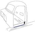 1947-55 Chevy & GMC Truck Running Board Seals