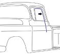 1955-59 Chevy & GMC Truck Glass Run Window Channel Seals