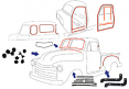 1951 Chevy & GMC Truck Complete Weatherstripping Kit