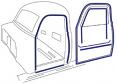 1950 Chevy & GMC Truck Door Weatherstripping Kit
