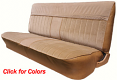 1981-87 Fullsize Chevy & GMC Truck Front Vinyl & Cloth Bench Seat Cover with horizontal band