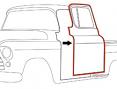 1955-59 Chevy & GMC Truck Door Weatherstrip Seal on Door