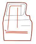 1955-59 Chevy & GMC Truck Door Weatherstripping Kit