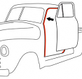 1947-48 Chevy & GMC Truck Door Windlace Weatherstrip on Cab