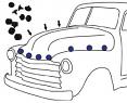 1947-55 Chevy & GMC Truck Rubber Hood Bumpers