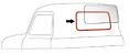 1947-59 Chevy & GMC Truck Small Rear Window Seal with Chrome Lockstrip