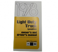 1978 Fullsize Chevy & GMC Truck Owners Manual