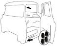 1964-66 Chevy & GMC Truck Rubber Door Bumpers
