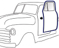 1947-55 Chevy & GMC Truck Door Weatherstrip on Door