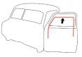 1947-50 Chevy & GMC Truck Glass Run Window Channel Seals