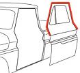 1960-61 Chevy & GMC Truck Upper Door Weatherstrip Seals on Door