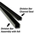 1960-66 Chevy & GMC Truck Division Bar Channel Felt Inserts, without Metal Framed Glass