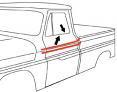 1964-66 Chevy & GMC Truck Beltline Window Felts with Black Bead