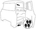 1960-63 Chevy & GMC Truck Rubber Door Bumpers