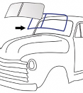 1947-53 Chevy & GMC Truck Windshield Seal without Trim Channel