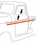 1947-50 Chevy & GMC Truck Beltline Window Felts