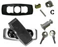 1973-91 Fullsize Chevy Blazer, Suburban & GMC Jimmy Tailgate Handle Assembly Kit for Manual Rear Windows