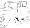 1950-55 Chevy & GMC Truck Lower Windlace Door Seal on Cab, Black
