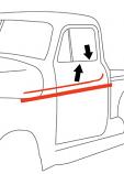 1951-55 Chevy & GMC Truck Beltline Window Felts